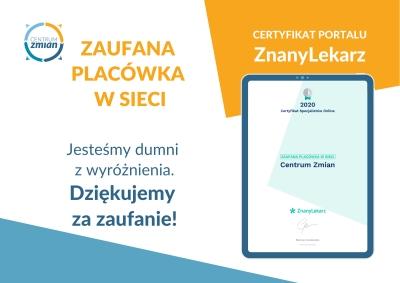 Certyfikat Zaufana placówka w sieci